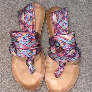 Multicolored Dirty laundry sandals size 7